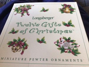 Longaberger Twelve Gifts of Christmas set of 12 ornaments - NEW for Sale in Woodbridge, VA