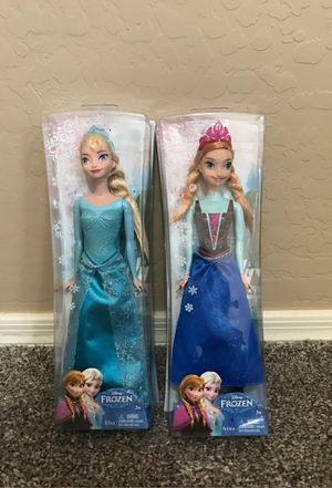 Disney's Frozed Anna and Elsa Dolls for Sale in Maricopa, AZ