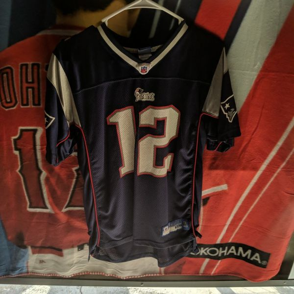 Tom Brady New England Patriots/Tampa Bay Buccaneers NFL Football Jersey Children Size Extra Large Reebok Authentic NFL Equipment