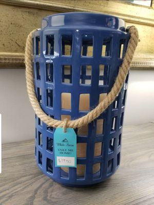 Home Decor Large Candle Holder From White Barn for Sale in Jackson Township, NJ