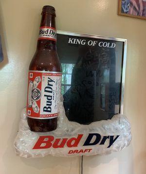 Bud dry light up beer sign for Sale in Haymarket, VA