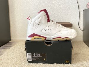 Air Jordan's 6 Retro OG BG (offwhite/maroon) for Sale in Escondido, CA