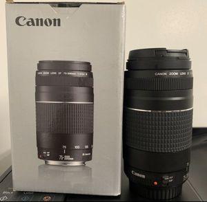 Cannon 75-300mm lens for Sale in Marietta, GA