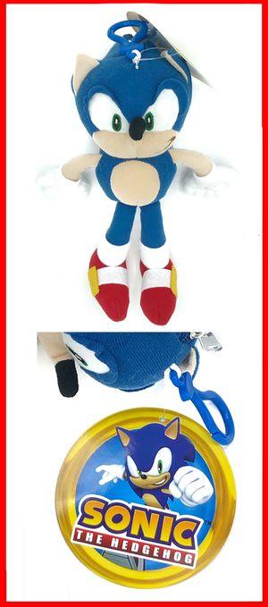 Sonic the hedgehog soft plush keychain anime cartoon movie stuffed toy for Sale in Long Beach, CA
