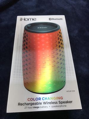 iHome color changing Bluetooth speaker for Sale in Riverview, FL