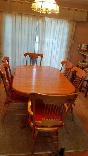 Oak dining room set for Sale in Rockville, MD