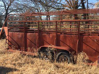 Solid steel gooseneck cattle trailer. $3500 obo for Sale in Dallas,  TX