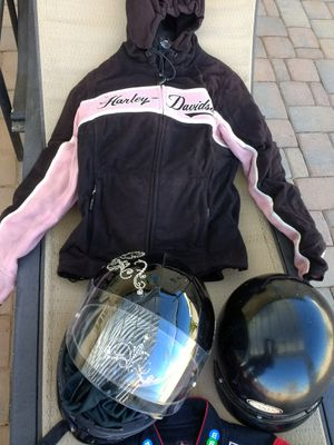 Harley motorcycle rain jacket and cool vest, good to very good condition for Sale in Phoenix, AZ