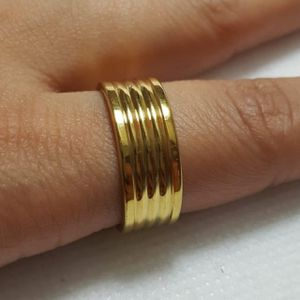 Beautiful Stainless Steel Gold plated Ring Band For Men Women Ring Ring Size: 8.75 Thickness: 7.5mm -RGN-83 *Shipping Only* for Sale in Queens, NY