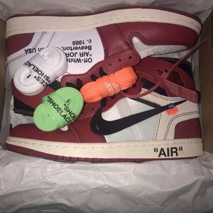 Nike Off White air Jordan 1 Chicago 9.5 $1,100 for Sale in Stockbridge, GA