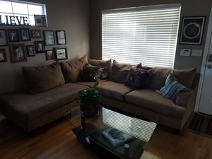 sectional with glass table for Sale in Aurora, CO