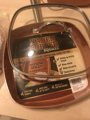 """Kaden Copper Square 11"""" Square Ceramic Copper NoN-Stick fry pan for Sale in Chicago, IL"""