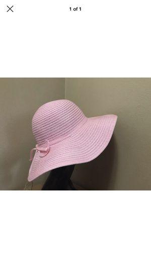 Ladies Swirl Braid Toyo Straw Crushable Floppy Summer Sun Beach Hat PINK for Sale in Portland, OR