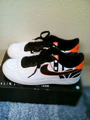 Nike Air Force 1 '07 LV8 black white orange men size 13 for Sale in Oakland, CA
