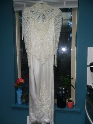Vintage Wedding Dress By Bridal Originals Size 10 for Sale in Tacoma, WA