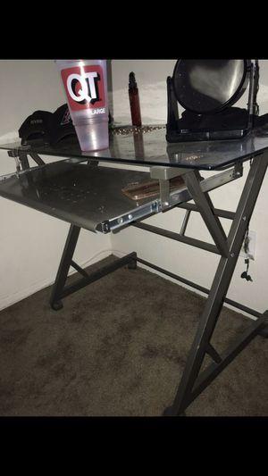 Small glass desk for Sale in Mesa, AZ