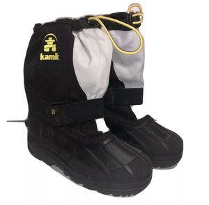 Kid's KAMIK Black Snow Boots With Removable Felt Liners Youth Size 3 for Sale in Rowlett, TX