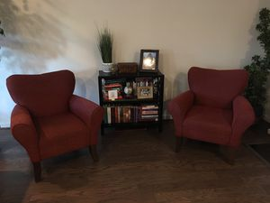 Set of 2 Red chairs for Sale in Fairfax, VA