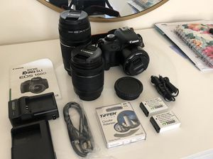 Canon Rebel SL1 plus 3 lenses and polarizer for Sale in Boston, MA