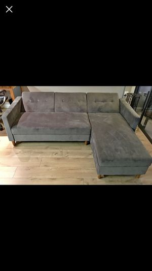 Gray sectional with storage for Sale in Fairfax Station, VA