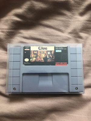 Clue SNES Super Nintendo for Sale in Sacramento, CA