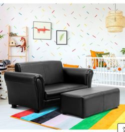 Kids Double Sofa with Ottoman-Black for Sale in City of Industry,  CA