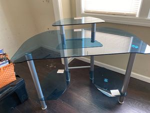 Glass desk and desk chair for Sale in Blackwood, NJ
