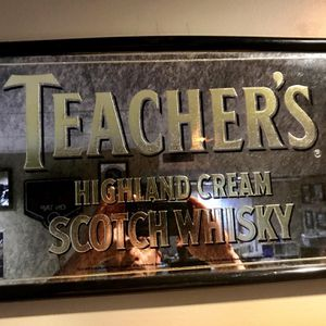 Vintage Teacher's Highland Cream Scotch Whiskey Bar Mirror for Sale in Antioch, IL