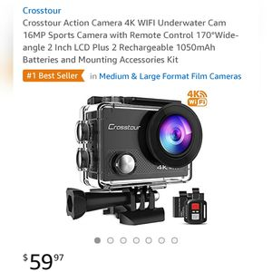 Crosstour 4k Action Cam!! New! for Sale in Tampa, FL