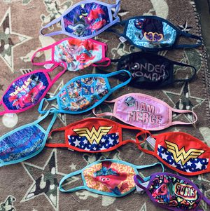 Girls masks! Bundle of 12 selling together for Sale in Everett, MA