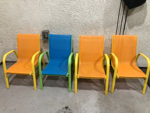4 Kids stacking chairs for Sale in Tracy, CA