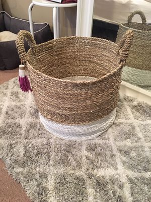 Decor basket for throw blankets & pillows for Sale in Philadelphia, PA
