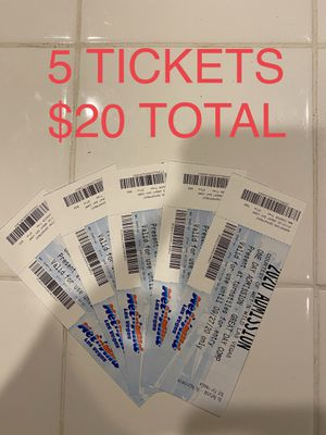 5 WET N WILD TICKETS-SINGLE DAY ENTRY for Sale in Las Vegas, NV