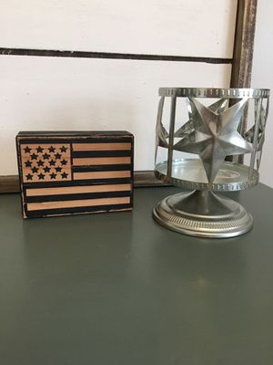 Farmhouse wooden sign and candle holder for Sale in West Covina, CA
