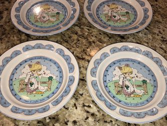 4 Precious Moments Small Glass Salad Plates for Sale in San Jacinto,  CA