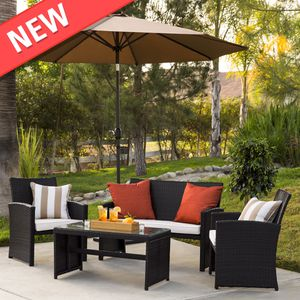 4-Piece Wicker Patio Conversation Furniture Set for Sale in Philadelphia, PA