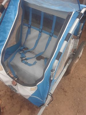 Bike, baby bike seat, and double seater bike trailer for Sale in Flower Mound, TX