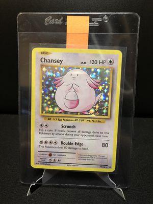 Chansey HOLO RARE 70/108 Pokemon XY Evolutions Anniversary Holographic Foil for Sale in Stockton, CA
