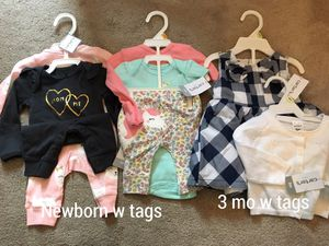 huge baby girl clothes lot see pics for Sale in Las Vegas, NV