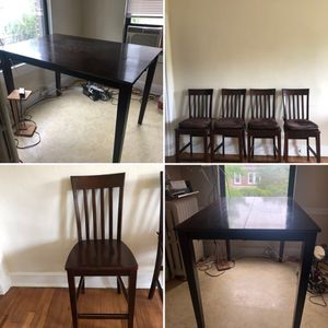Large tall dining table set for Sale in Washington, DC