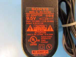 Sony 9.5V AC Adapter/Charger AC-FX160. for Sale in Rincon, GA