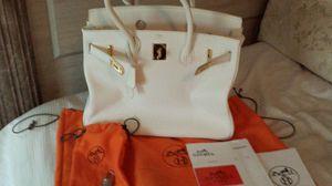 Hermes birkin bag glacier white with palidium lock for Sale in Lynn, MA