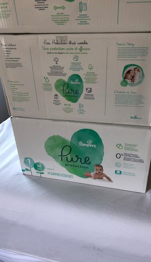 Pampers pure size 1 -3 cases for Sale in Springfield, VA