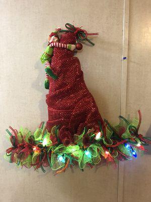 Christmas wreath lights up for Sale in Oklahoma City, OK