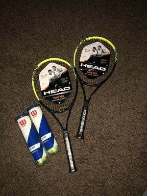 2 Tennis Rackets & 2 (3 Packs) Of Tennis Balls for Sale in Midwest City, OK