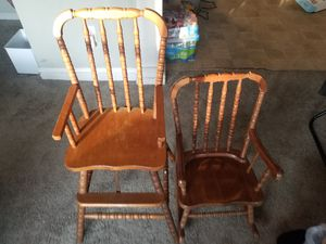 Antique Child's rocking chair highchair for Sale in Sewell, NJ