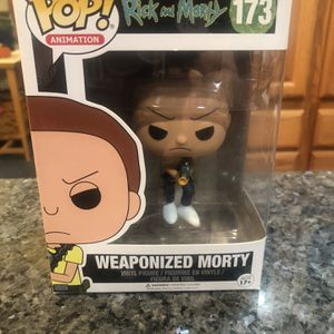 Collectible Funko POP Animation Rick and Morty Weaponized Morty # 173 Vinyl Figure Brand New for Sale in Cypress, CA