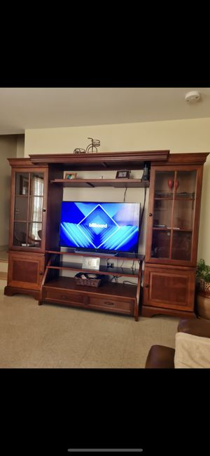 Entertainment Center with 50 in smart tv and center table for Sale in New Britain, CT