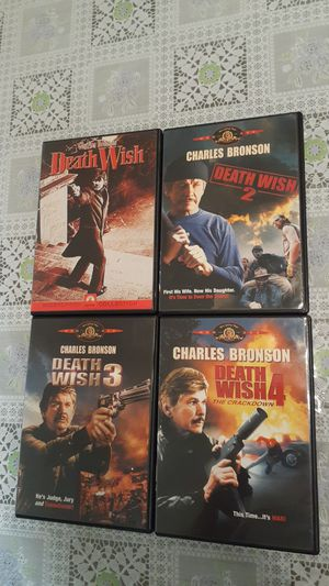 Death Wish Lot Of Four DVDs/Films- Charles Bronso for Sale in Rancho Cucamonga, CA