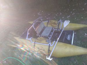 Creek country inflatable pontoon boat for Sale in Everett, WA